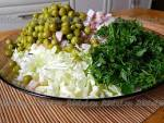 Салаты с китайской капустой и ветчиной рецепты