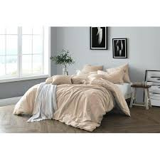 natural duvet cover all yarn dye cotton chambray set soft wrinkled look friendly package on