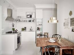 Long Curtains In Kitchen Interior Perfect Scandinavian Kitchen Ideas With Brown Wood