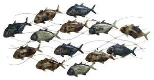 industrial arts metal fish wall decor