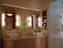 lighting bathroom interior modern contemporary bathroom wall lights flanking double frameless wall mirror attced on brown bathroom lighting ideas double
