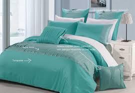 molise turquoise queen king quilt cover set new duvet