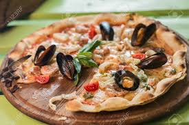 Traditional Italian Seafood Pizza With ...