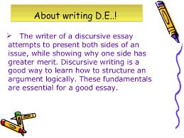 discursive and argumentative essays 7  the writer of a discursive essay