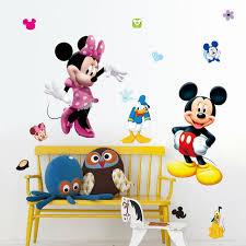 aliexpress com acheter mickey mouse wall sticker 50x70 cm belle