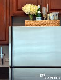 small kitchen refrigerator. To Save Space In A Small Kitchen, Put Tray On Top For Extra Storage Kitchen Refrigerator