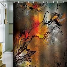 Artistic shower curtains Teal Shower Curtains Ideas Cool Shower Curtains Fun Bathroom Shower Curtain Ideas Artistic Shower Curtain Warm Colors Browns Rust Greywhite Black Pinterest Artistic Designer Shower Curtains For An Exceptional Bathroom