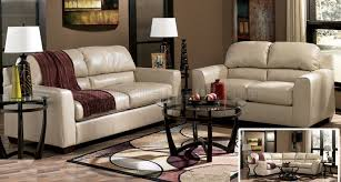 Taupe Color Leather Match Modern Sofa And Loveseat Set
