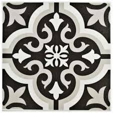 Black And White Pattern Tile Enchanting Black Field Floor Ceramic Tile Tile The Home Depot