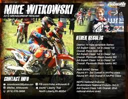 Dorable Motocross Resume Example For Sponsorship Picture Collection