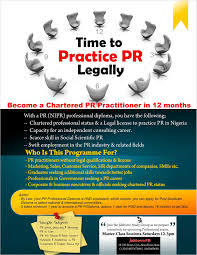public relations how to become chartered in ia pr mktg  public relations how to become chartered in ia pr mktg advertising study group commences in uyo on saturday