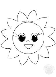 Disegno Fiore Sorridente Da Colorare Tuttodisegnicom