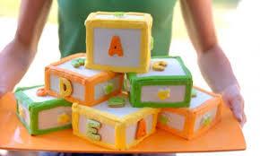 Alphabet Blocks Birthday Cake Kidspot
