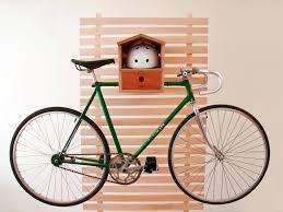 Source / Via : Decorative Birch Wood Wall Bike Rack ...