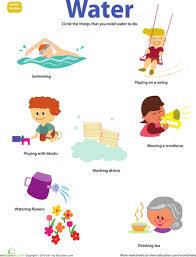 Water Worksheets For Kindergarten Water Cycle Worksheet