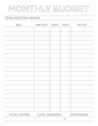 Budget Planners Free Free Fortnightly Budget Planner Template Monthly Printable