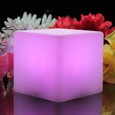 led mood lighting. cube mood light glowing pink led lighting