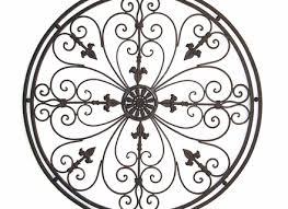 wall art wrought iron round
