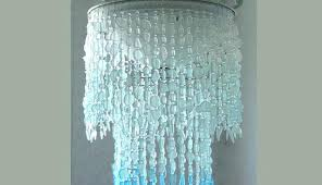 coastal decor lighting brilliant lighting sea glass chandelier lighting fixture coastal decor blue intended for
