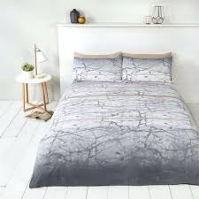 grey and rose gold bedding marble effect grey white cotton blend king size duvet cover pink