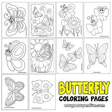 Do you know where butterflies come from? Butterfly Coloring Pages Free Printable From Cute To Realistic Butterflies Easy Peasy And Fun