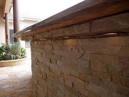 stacked stone patio bar with lighting by outdoor kitchens u0026 living of florida stone patio bar70 bar