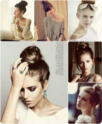 high bun hairstyle for date or back to with hai rextensions