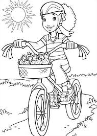 Small Picture Holly Hobbie Bestfriend Carrie Riding Bike Coloring Pages Batch
