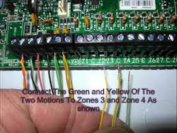 home alarm wiring part 2 wmv youtube paradox sp4000 programming manual at Paradox Sp6000 Wiring Diagram