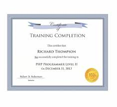 Certificate Of Completion Training Classy 48 Fantastic Certificate Of Completion Templates [Word PowerPoint]