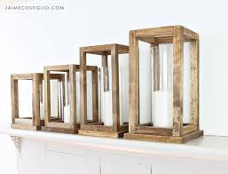 a diy tutorial to build wood lantern centerpieces free plans for four sizes of wood lanterns perfect for your party table decor and reusable too