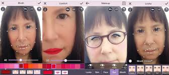 when you have a viable angle the app offers five tabs for potentially improving your visage looks skin face eye and mouth