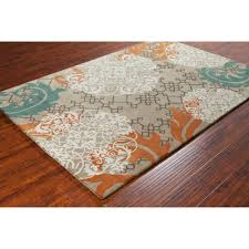 orange and blue area rug  rugs decoration