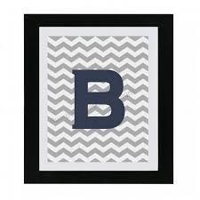 Printable Chevron Letters Initial Monogram Nursery Wall Art Nursery Decor Digital Boy Girl Chevron Digital Printable Letter Art Baby Shower Gift A B C