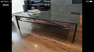 granite coffee tables x 2