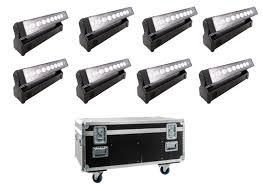 Glp Impression X4 Bar 10 Xlr 5pol Tourpack 8 Set 8x Impres X4 Bar10 8x Omega Bracket 1x Stack Case