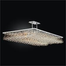 modern rectangular chandelier genesis 635gd52sp