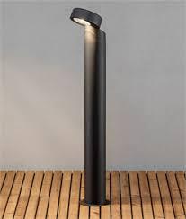 exterior bollard lighting led. off-set exterior black bollard with led lighting led