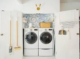 double laundry room door with drying rack