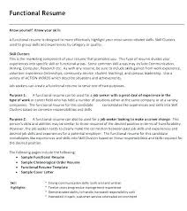 Functional Resume Template Word Enchanting Student Sample Resumes Functional Resume Example Functional Resume