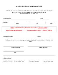 Senior Prom 2017 Parent Letter Permission Slip 2 Page 3 Ridge Pto
