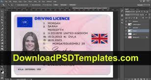 United Drivers editable License Kingdom Psd Uk Template