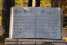 the lord s prayer statue religious