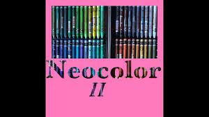Caran Dache Neocolor Ii Swatching 84 Colors Watercolor Crayons