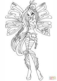 Sirenix Flora Coloring Page Free Printable Coloring Pages