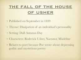 thesis statement for the fall of the house of usher acirc criminal writing a physician assistant personal statement