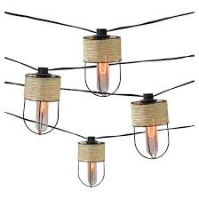 decorative string lighting. 10ct decorative string lightsstring wrapped metal cage cover with edison bulb smith u0026 hawken lighting