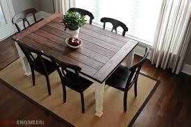 diy farmhouse dining table free plans