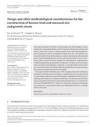 Human Fetal Growth Chart Pdf Design And Other Methodological Considerations For The