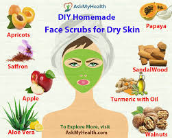 diy homemade face scrubs for dry skin